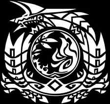 Monster Hunter Jinouga Zinogre crest decal sticker