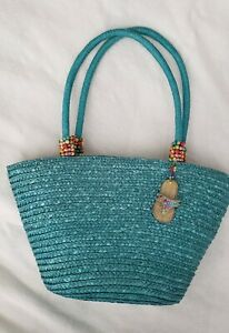 Cappelli Straworld Purse vgc with beads and Flip Flop charm