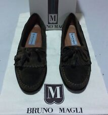 New Bruno Magli Bergen 10 M olive sueded leather (1028)