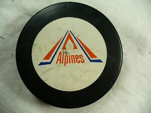 AHL Moncton Alpines Vintage Approved Official Logo Hockey Puck Collect Pucks