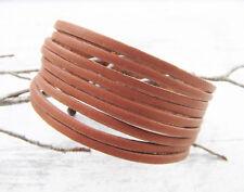 Rindleder Armband Lederarmband braun 3cm breit 23cm lang SERAJOSY