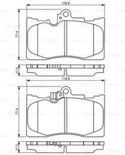Bremsbelagsatz, Scheibenbremse für Bremsanlage Vorderachse BOSCH 0 986 494 252