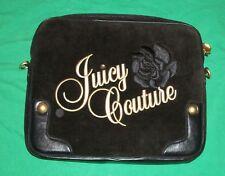 JUICY COUTURE COMPUTER BLACK VELVET BRIEF CASE LAPTOP CHROMEBOOK CACHE CARRY BAG