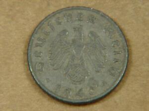 1940-A Germany 5 Pfennig Nazi Swastika WWII Coin
