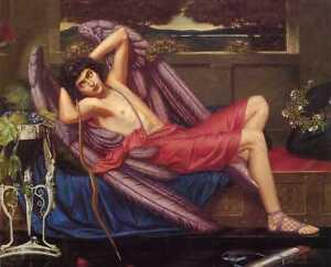 Sidney Harold Meteyard, Eros, Love in Idleness Canvas Print