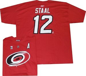 """Carolina Hurricanes Eric Staal """"A"""" Reebok T Shirt Clearance!New Oversized Fit"""