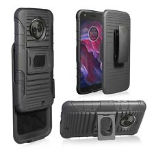 For Motorola X4, XT1900-1 Hybrid Kickstand Heavy Duty Armor Holster +