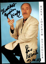 Hans Joachim Stiegler Autogrammkarte Original Signiert ## BC 52366