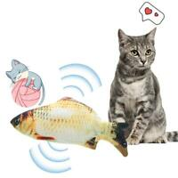 Electric Cat Wagging Fish Realistic Plush Simulation Carp Doll Fish Jumping Toy