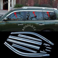 For Toyota Land Cruiser 08-2020 Chrome Window Rain Guards Deflector Vent Visors