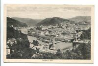 uralte AK Tetschen an der Elbe Děčín Brücke 1927 //28
