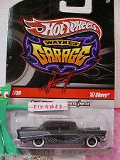 2010 #7 WAYNE'S Garage '57 Chevy Bel Air 1957 Poursuite Noir avec / Flancs Hot