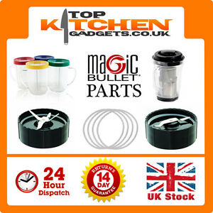 Magic Bullet Parts ✰ Amazing Quality Spares Gaskets Cups Mugs Flat Cross Blades