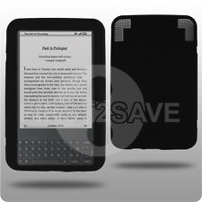 NEW BLACK SILICONE SKIN CASE COVER FOR KINDLE 3 KEYBOARD 3G Wi-Fi UK