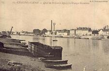 CHALON-sur-SAÔNE Quai de St-Cosme depuis les Granges Forestiers