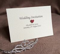 10 x Personalised Day or Evening Handmade Wedding Invitations- Free Samples