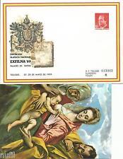 Sobre Entero Postal Edifil # 13 Toledo - Exfilna 89