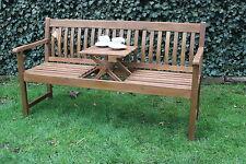 Bank Gartenbank LEWIS 3 Sitzer mit ausklappbarem Tisch Akazie Holzbank  NEU!!