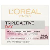 L''Oreal Paris Triple Active Day Dry and Sensitive Skin Moisturiser 50ml