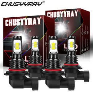 White Front LED Headlight Bulbs For Saturn Vue 2002-2007 High & Low Beam Qty*4