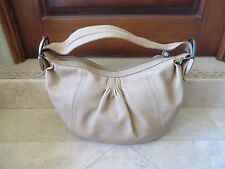 ALFANI Buff  Tan Butter Soft Leather Hobo Bag Purse Gently Used Nice Detail 1a6b01886d