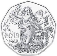 Österreich 5 Euro 2019 Neujahrsmünze Lebensfreude Silbermünze im Folder
