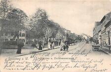 Landsberg an der Warthe Lindenplatz und Zechowerstrasse AK 1904