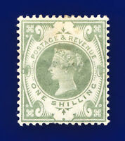 1887 SG211 1s Dull Green K40(1) Mounted Mint Hinges MMH Cat £275 cora