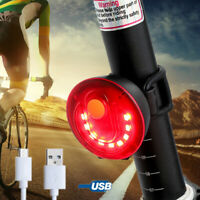 BMX Road Bike Cycling Safety Signal Rear Light 3.7V USB Charge Bicycle Tail Lamp