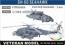 Veteran Models 1/350 Modern US SH-60 Seahawk Helicopter x2pcs