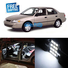 6Pcs Deluxe White LED Lights Interior Package Kit for Toyota Corolla And 2000 Up