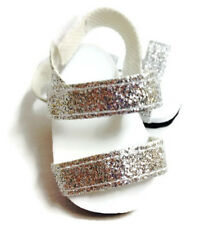 "Silver Glitter Sandal Shoes made for 18"" American Girl Doll Clothes"