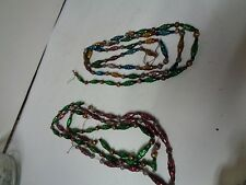 123 Inches - Old Glass Bead Christmas Garland - TINY GEOMETRIC