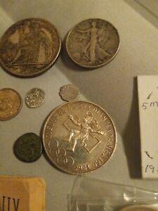 1938 D Walking Liberty Half Dollar 1878 trade dollar Must see WW2 pinup