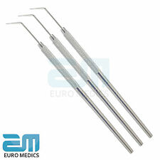 Set Of 3 Probe No.6 Examination Endodontic Cleaning Dentist Pick Instruments