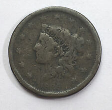 1838 USA One Cent Large Copper Coin  #Ref25
