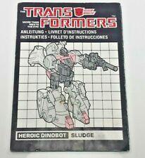 Sludge Dinobot G1 Transformer European MB Instructions Part Only [SDIC154]
