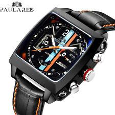 Paulareis Monaco Homage Watch Racing Square Orange and Blue Livery Mechanical