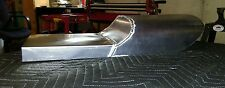 Aluminum street tracker seat pan custom made to your frame size. Made in USA