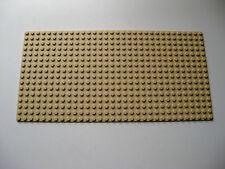 """Lego 16x32 Thin Base Plate -TAN- 5""""x10"""" -Part 3857"""