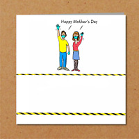 Social Distancing Mother's Day Card - Lockdown Self Isolation Card Son Daughter