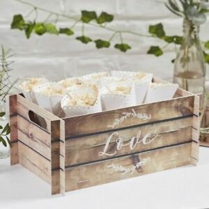 Wooden Effect Card Crate Wedding Box Wedding Favours Rustic Wedding Decor Party