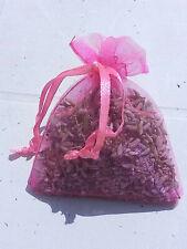 1 sachet de lavande  séchée en organza couleur rose fushia 100% bio pot pourri