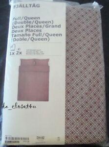 BRAND NEW IKEA Duvet Cover w/ 2 Pillow cases FJÄLLTÅG Full Queen buttons closure