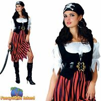 PIRATE LADY CARIBBEAN SWASHBUCKLER UK 6-28 Womens Ladies Fancy Dress Costume