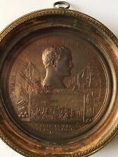 Napoleon Bonaparte Battle of Marengo Medal, Original Gilded Frame C1800 VGC