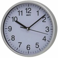 UNITY RADCLIFFE SILVER CASE SILENT SWEEP WALL CLOCK 20CM