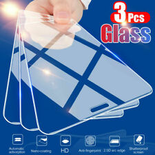 For iPhone 12 Pro Max 11 Pro Max X 3Pcs Screen Protect Film Tempered Glass Clear