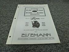Eisemann 61DA 61DAG 61DAL 61DAS Magneto for Lauson Engines Service Repair Manual