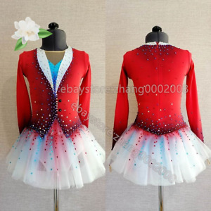 Ice Figure Skating Dress/Twirling Tap Dance Leotard/Competition Dress
